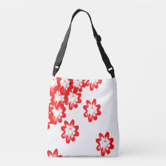 tote bag with red flowers