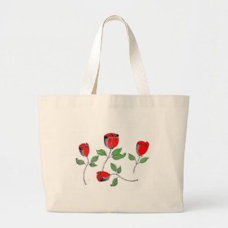 Tote Bag with Roses