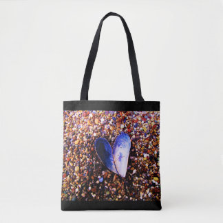 Tote bag with Seashells and Beach pebbles