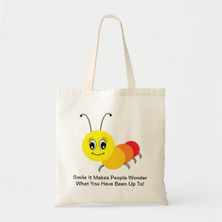 Tote Bag With Smiling Centipede