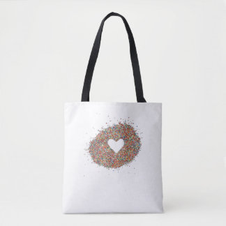 Tote bag with Sparkles Heart design