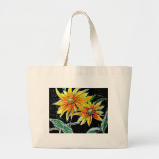 Tote Bag with Sunflower Art