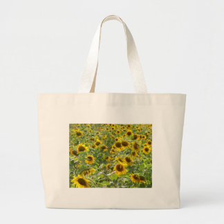 tote bag with sunflowers