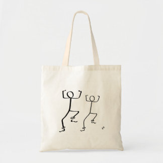 Tote bag with two Bhangra dancers