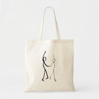 Tote bag with two Cha Cha Cha dancers