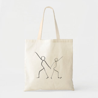 Tote bag with two Disco dancers