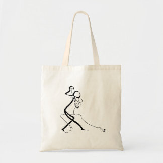 Tote bag with two Tango dancers