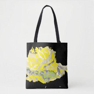 Tote Bag Yellow Rose in The Dark