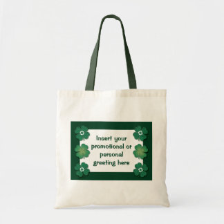 Tote bags customizable - shamrocks