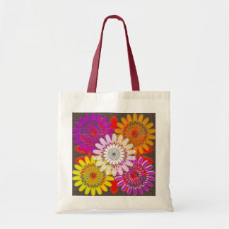 TOTE BAGS SMALL DIY flowers Treasure Colorful