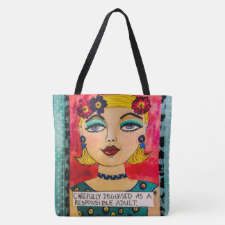 tote-carefully disguised as a responsible adult tote bag