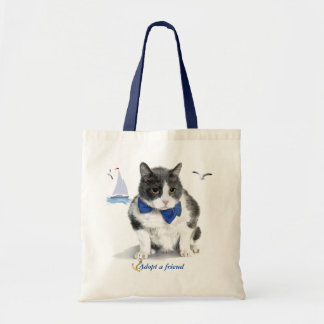 tote:  featuring Felix, the kitty, in the month of Tote Bag