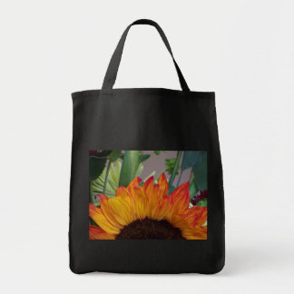 Tote Fiery Sunflower Grocery Tote Bag