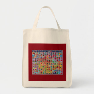 TOTE   FLAG   world Grocery Tote Bag
