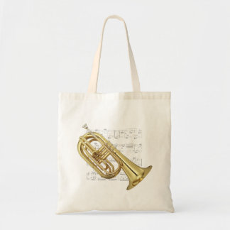 Tote - Marching euphonium and sheet music Budget Tote Bag