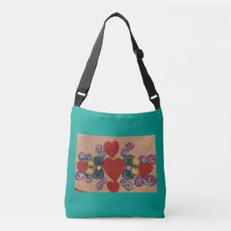 Tote with bowties and heartd