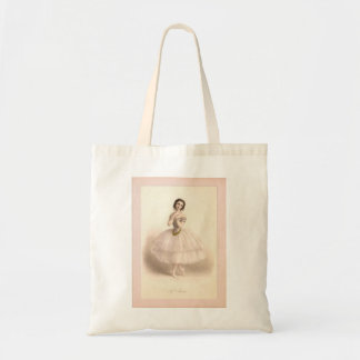 Tote with Vintage Ballerina Image Budget Tote Bag