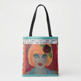 Totebag. I'm sorry I don't take orders. I barely Tote Bag