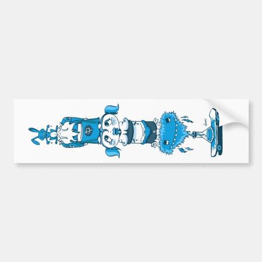 Totem blue bumper bumper sticker