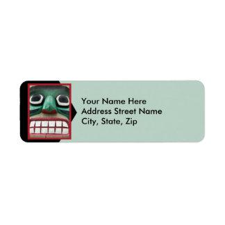 Totem on Green Return Address Label