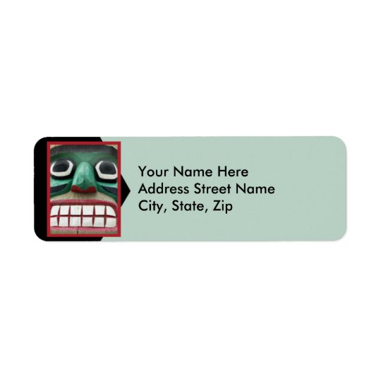 Totem on Green Return Address Label
