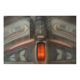 Totem Pole Abstract, Alaska Wood Wall Art