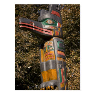 Totem pole in park in Ottawa, Ontario, Canada Postcard
