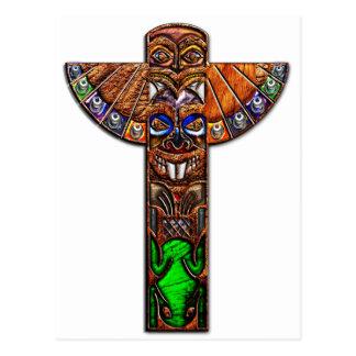 Totem Pole Spirit Creatures Postcard