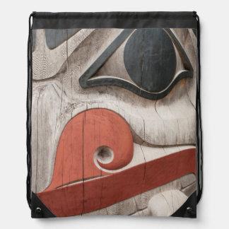 Totem poles at Haida Heritage Centre Museum Backpacks