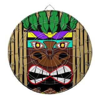 Totem With Bamboo Luau Party Dartboard