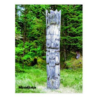 Totempole at Ninstints Postcard