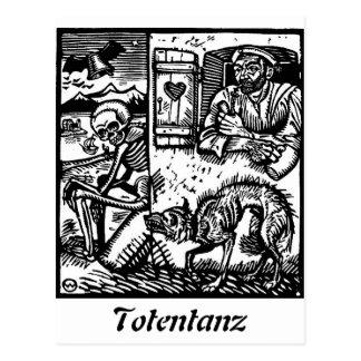 Totentanz Death waits postcard