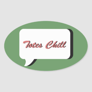 totes chill oval sticker