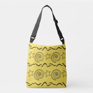 Totes, Fun scrolling designs Crossbody Bag