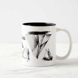 Totes Ma Boats mug Two-Tone Mug