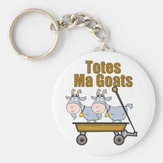 Totes Ma Goats Basic Round Button Key Ring