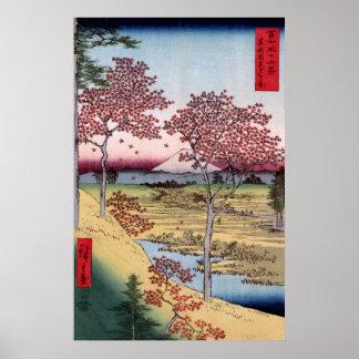 Tōto Meguro Yuhhigaoka, Ando Hiroshige Poster