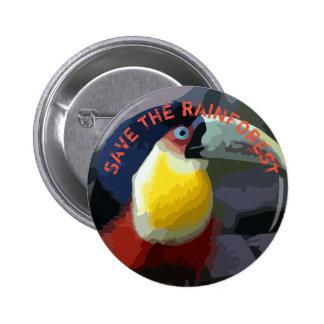 Toucan 6 Cm Round Badge