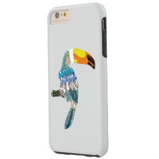 Toucan bird colorful sparkles and jewels bling tough iPhone 6 plus case