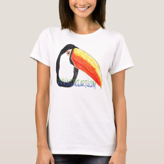 Toucan Bird Jungle Exotic Womens shirt top