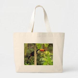 Toucan Bird Large Tote Bag