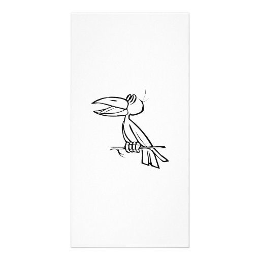 Toucan Bird on Tree Branch Customized Photo Card