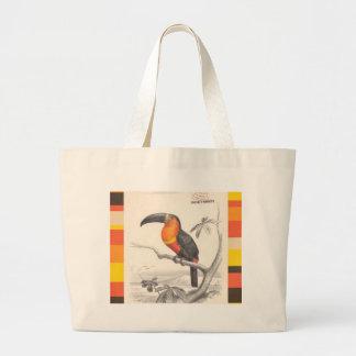 Toucan Bird Responsible Travel Art Large Tote Bag