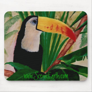 Toucan Bird Tropical Jungle Bird Mouse Pad Art