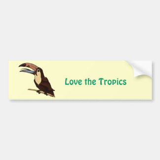 Toucan Carved of Tropical Woods Bumper Sticker