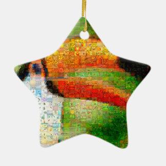 Toucan collage-toucan  art - collage art ceramic ornament