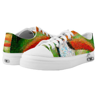 Toucan collage-toucan  art - collage art low tops