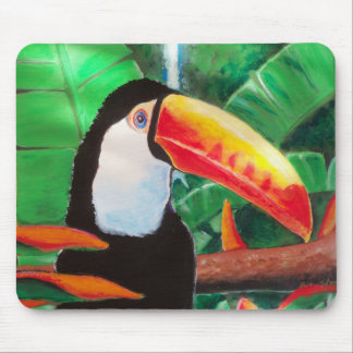 Toucan Exotic Jungle Bird Wildlife Mouse Pad Art