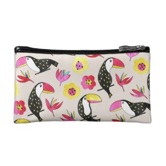 Toucan floral Cosmetic Bag