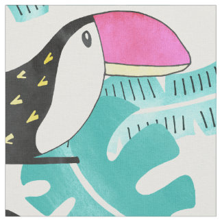 Toucan floral Fabric